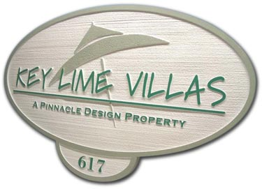 residential entrance sign sandblasted HDU pebble blast pattern