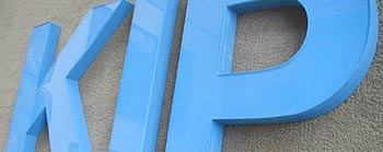 acrylic face sign letters