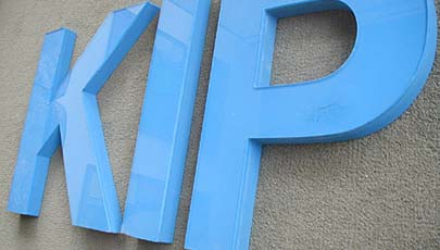 cnc routed acrylic sign letters