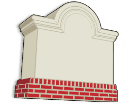 standard stucco sign monument model 24