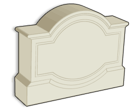 standard stucco sign monument model 27